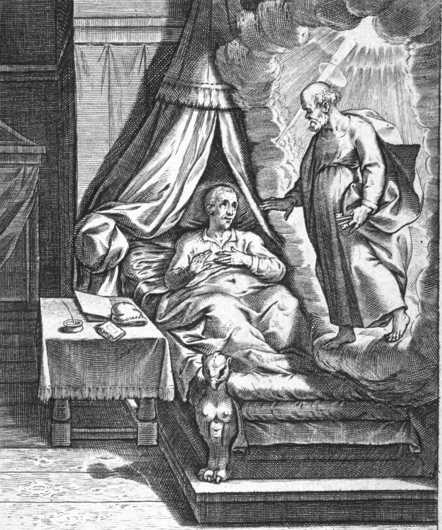 """""""Convalescing at Loyola"""" by Peter Paul Rubins. Photo featured courtesy of the  Jesuit Institute ."""
