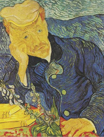 """Vincent van Gogh's """"Portrait of Dr. Gachet,"""" 1890."""