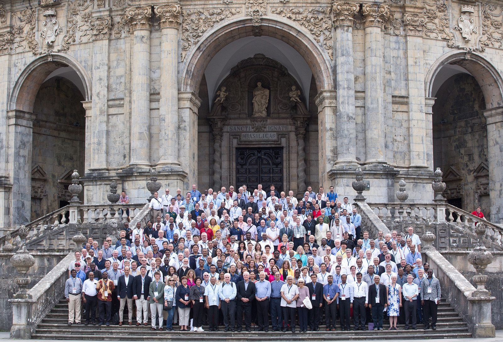 A group of representatives from Jesuit colleges and universities from across the world at the Inaugural meeting of the International Association of Jesuit Universities. Photo featured courtesy of  The Jesuit Curia in Rome .