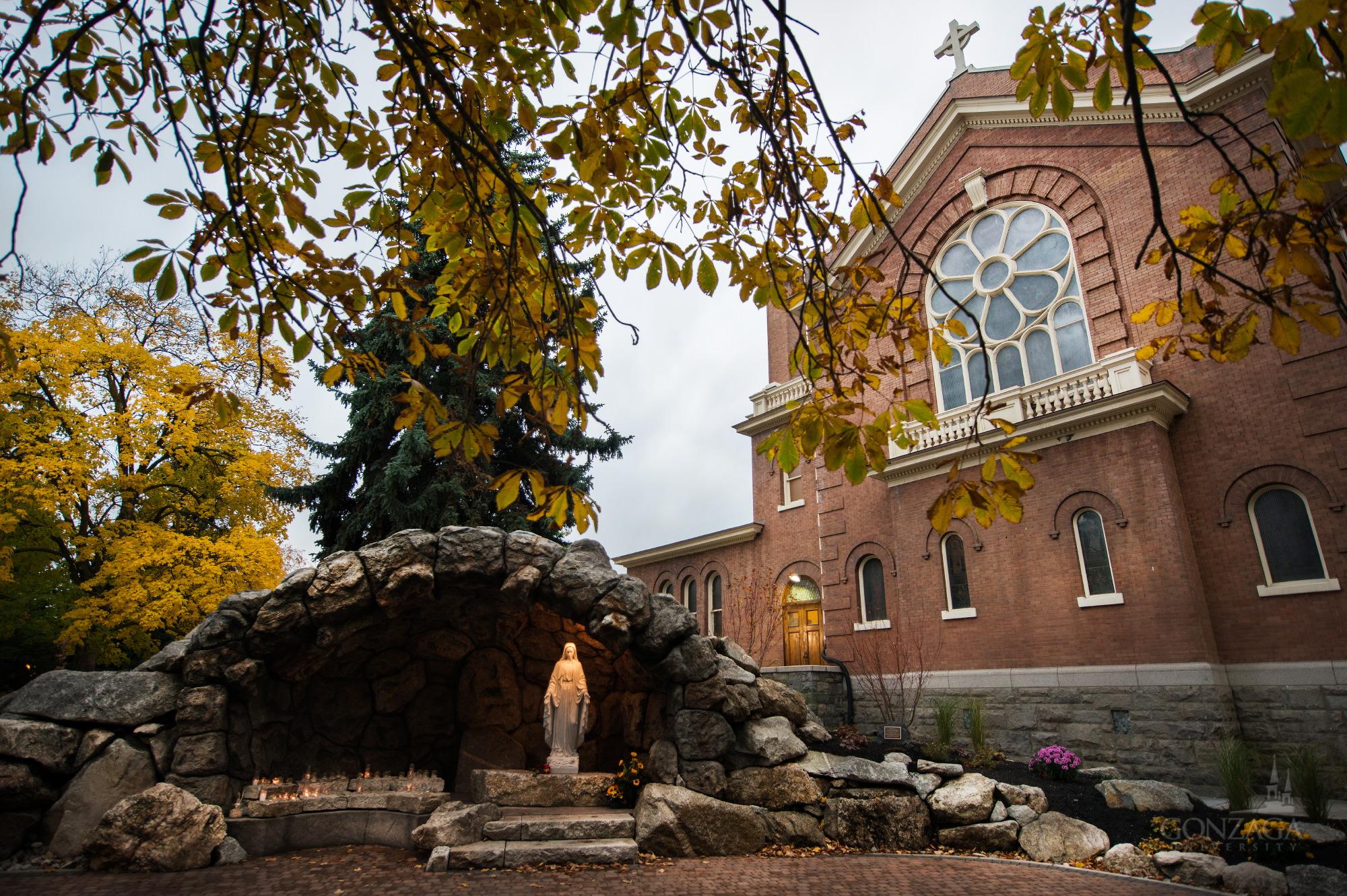 The Grotto. Photo featured courtesy of  Gonzaga University .