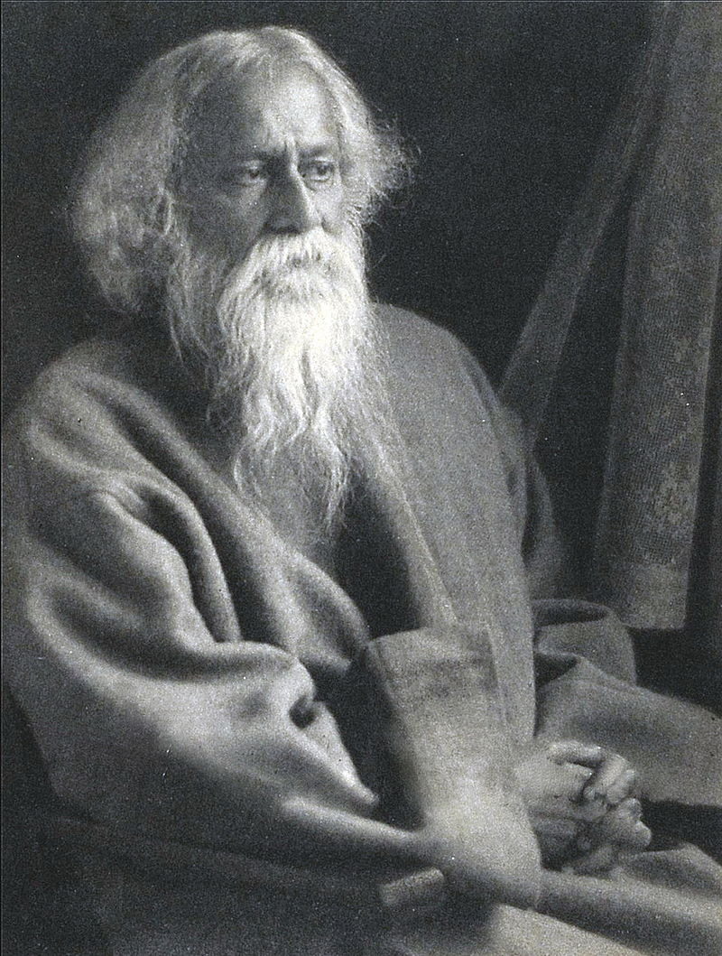 Rabindranath Tagore. Photo courtesy of  Wikipedia .