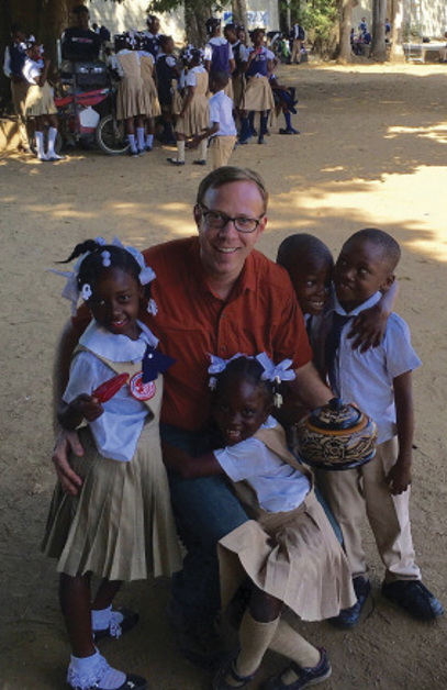 Aaron Van Dyke of  Fairfield University  on an ICP immersion trip to Haiti and the Dominican Republic. Photo by  Joseph DeFeo .