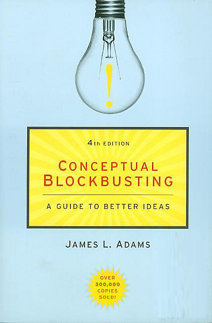 culturalbytes :      According to Adams, there are 4 general categories of blocks:      The first are Perceptual Blocks. Perceptual blocks prevent us from properly perceiving the information needed to solve the problem, or in some cases, the problem itself. An example of a perceptual blockmight be an inability to see the problem from alternate viewpoints.      Emotional blocks mainly stem from fears such as taking risks, failing, feeling lost and chaotic or being judged  by others.     Cultural or environmentalblocks are impediments to creative problem solving that are a result of the sociocultural environment we are in (e.g. taboos or cultural beliefs) or the types of environments we live and work in (e.g. distractions, lack of support and trust from others).     The final category are Intellectual / Expressive blocks, which includes not having the right information or mental strategies on hand to solve the problem, or shortcomings in recording and expressing ideas for problem-solving.