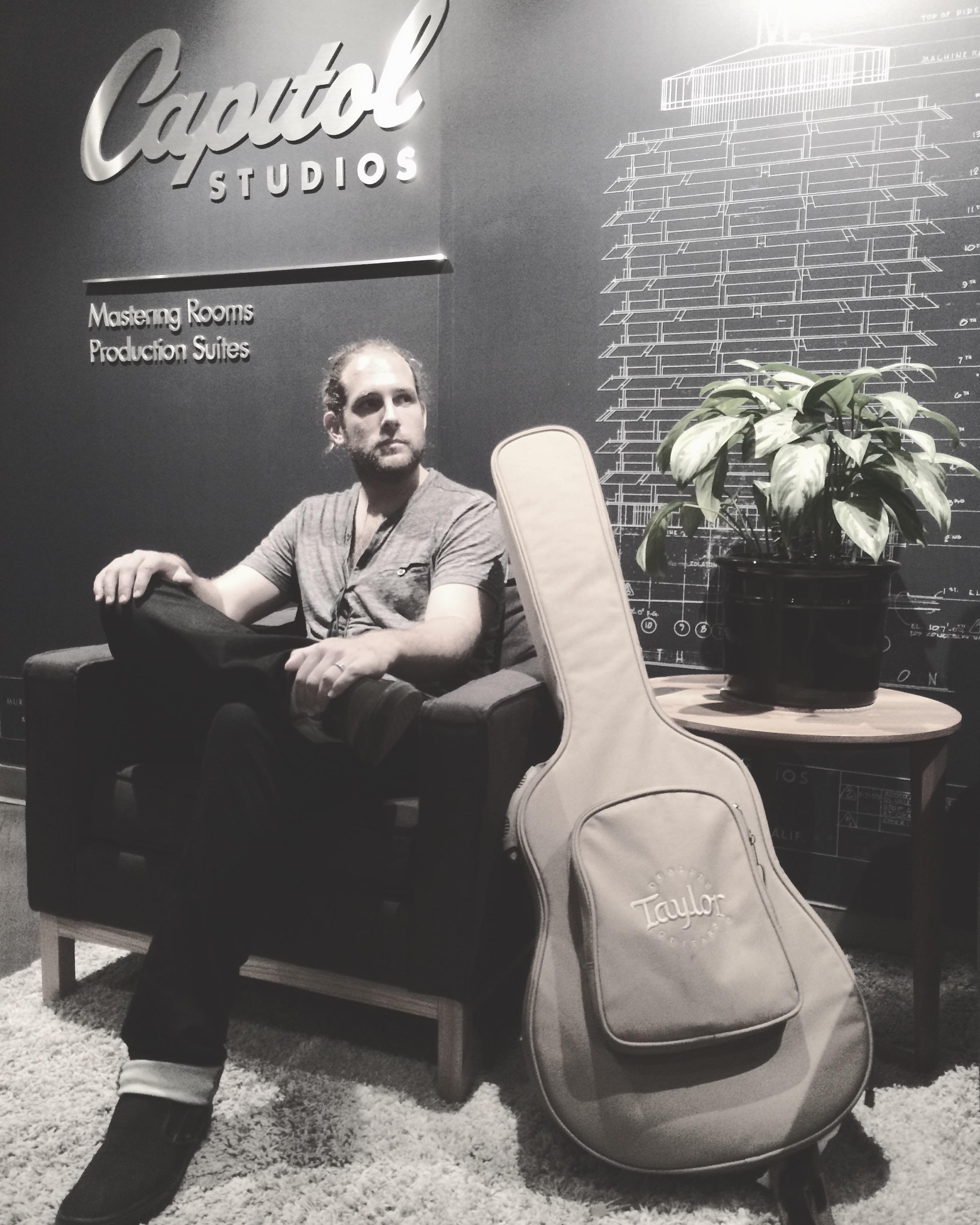 Waiting to record at Capitol Studios