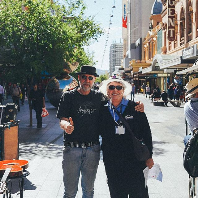 This is Lisa - This legend spends her days showing people round the city she loves for completely free. There are greeters like her in cities all over waiting to show you around. #cityofadelaide #rundlemall #greeter