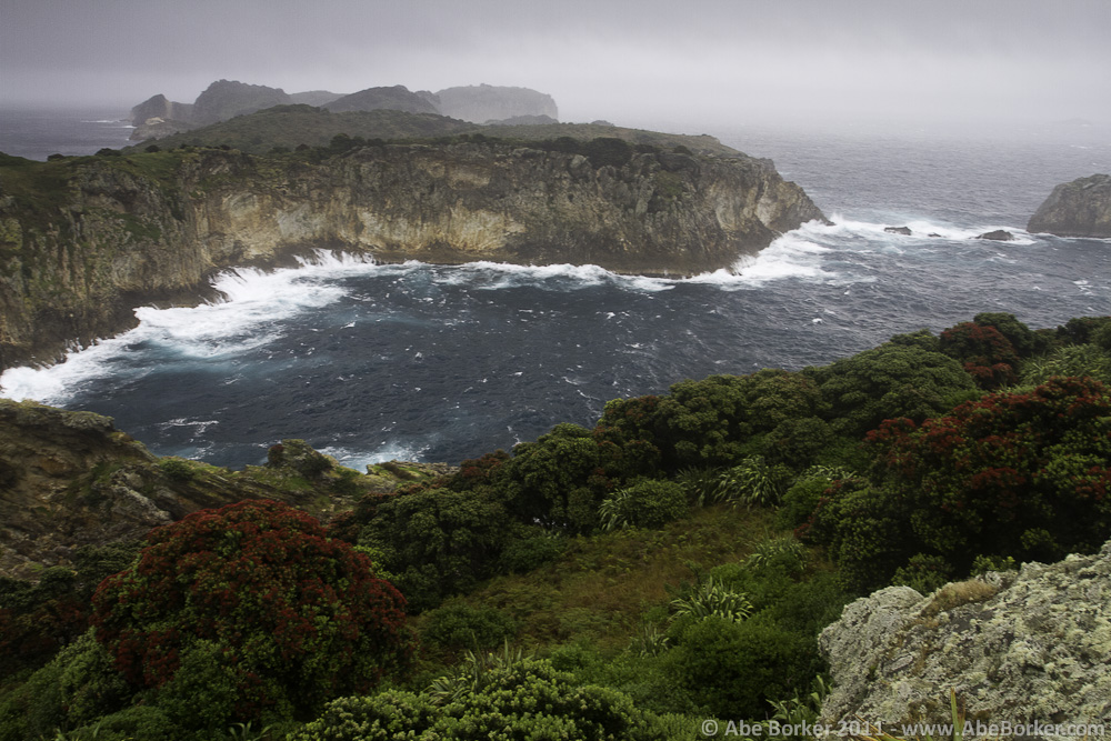 A stormy day on Burgess Island.