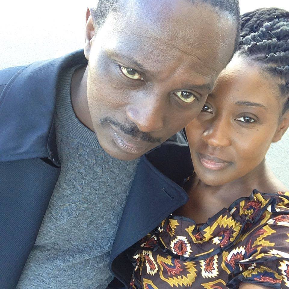 A selfie with Souleymane Sy Savane on the set of The Healer.