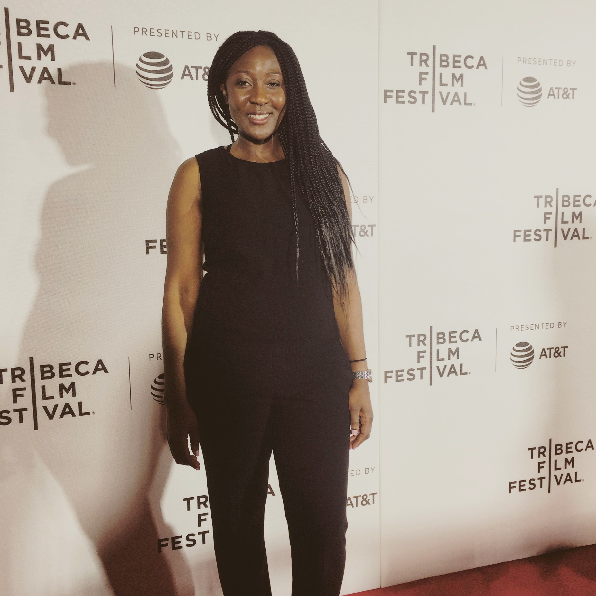On the red carpet at the premiere of Phone Calls at Tribeca N.O.W.