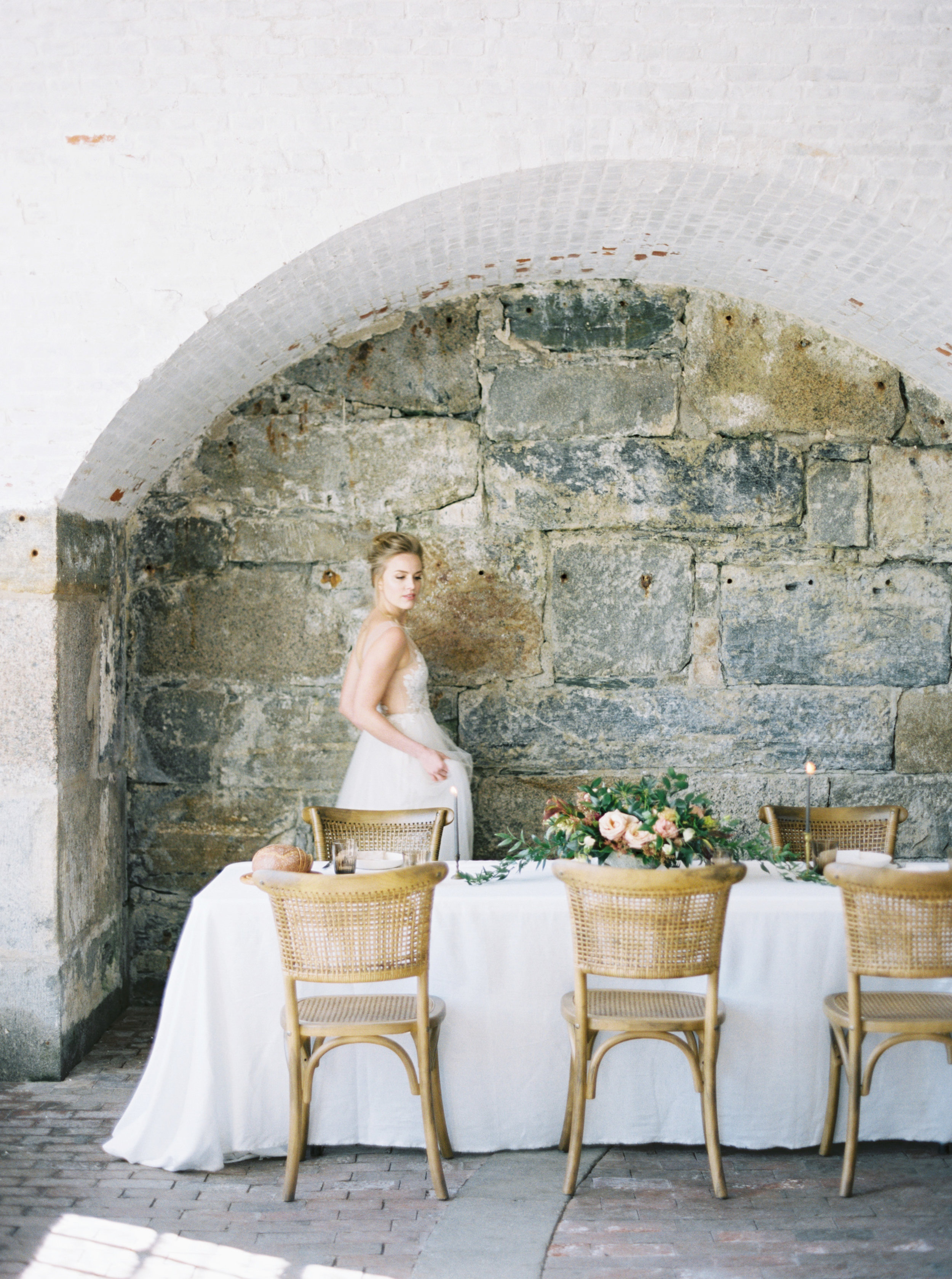 If your significant other wears an uniform, why not pay homage and get married at a real Fort? Photo: Elizabeth LaDuca, Fort Adams, Newport, RI