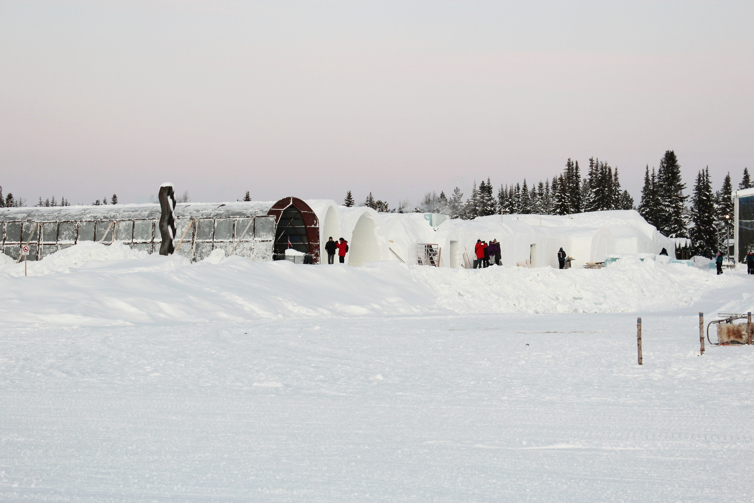 Outside the Icehotel in Sweden - Photo by: The Romanticist Studios