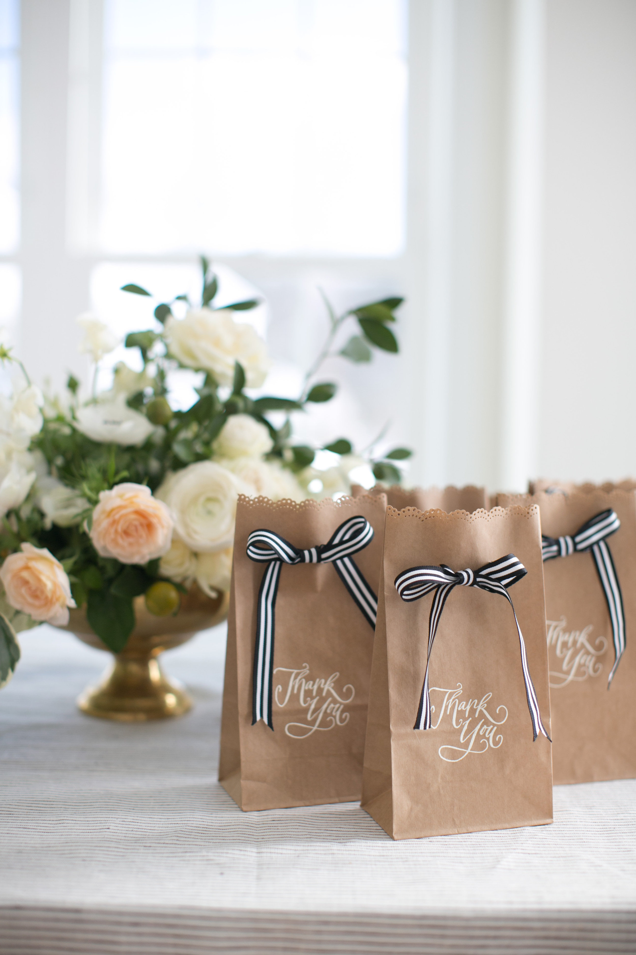 The infamous brown bags after I customized them...pretty cute but I still have 1000 of them on my basement!