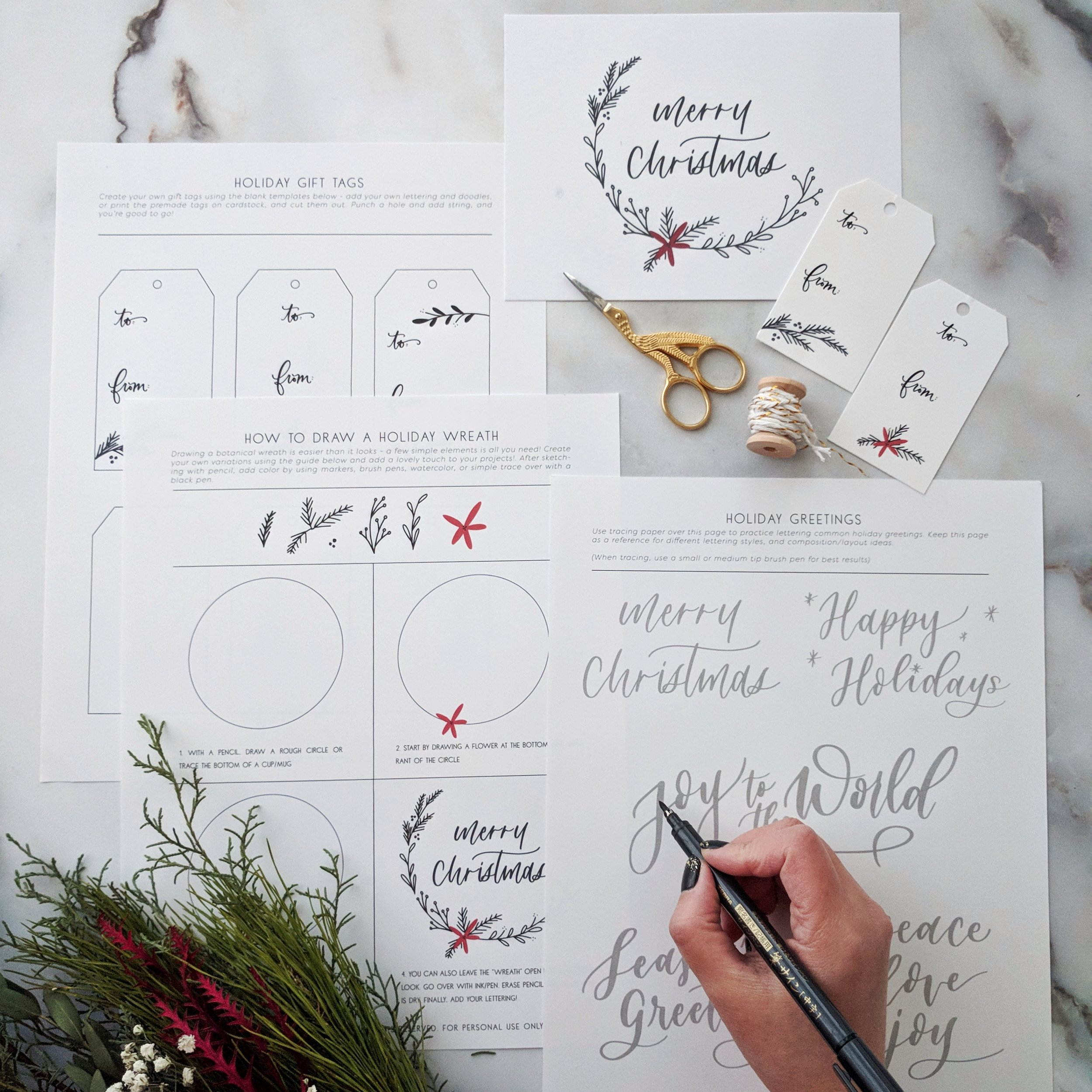 This mini printable bundle is everything you need to add a personal touch to your holiday gifting! Download  HERE