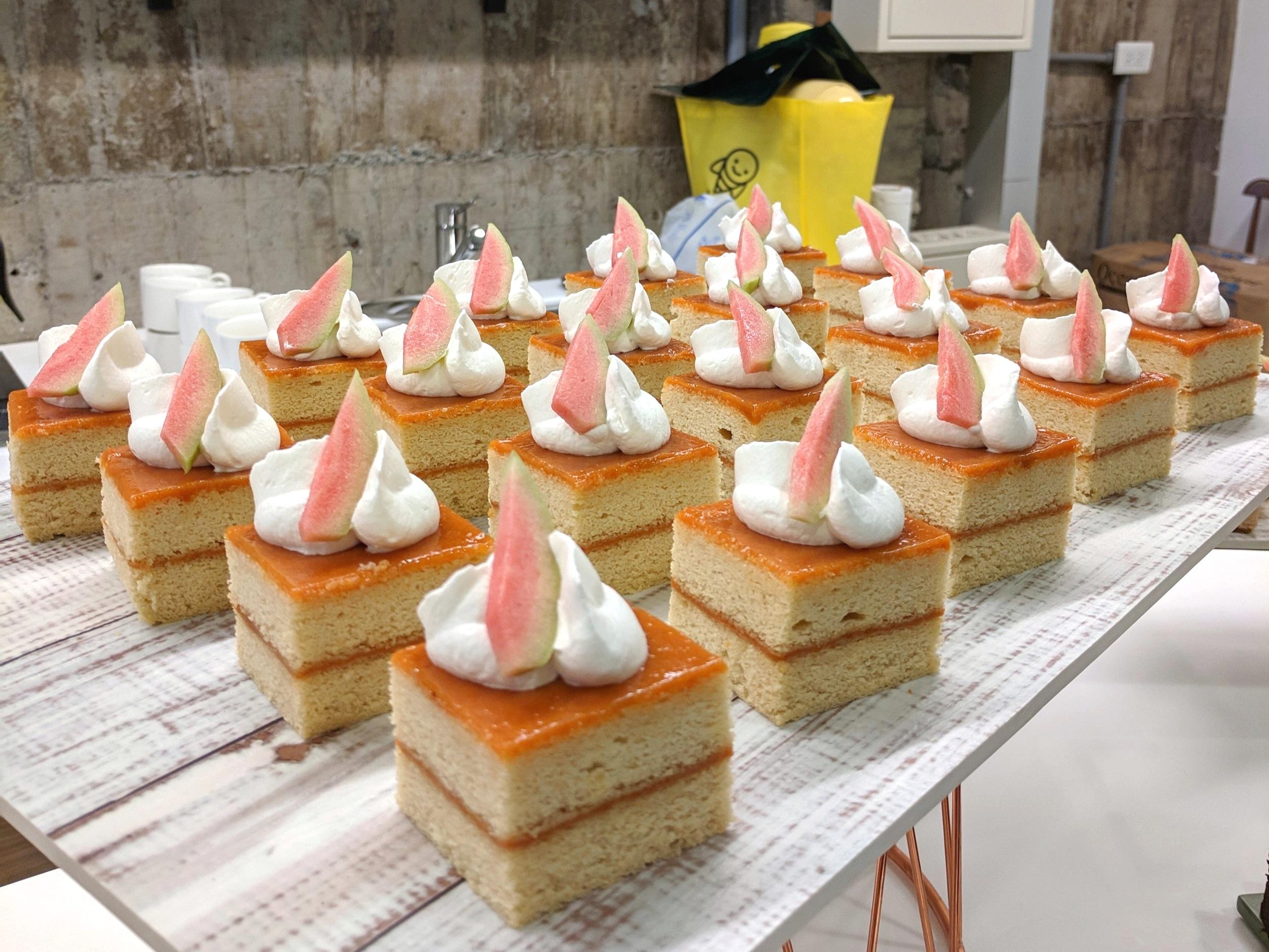 PINK GUAVA CHIFFON CAKES