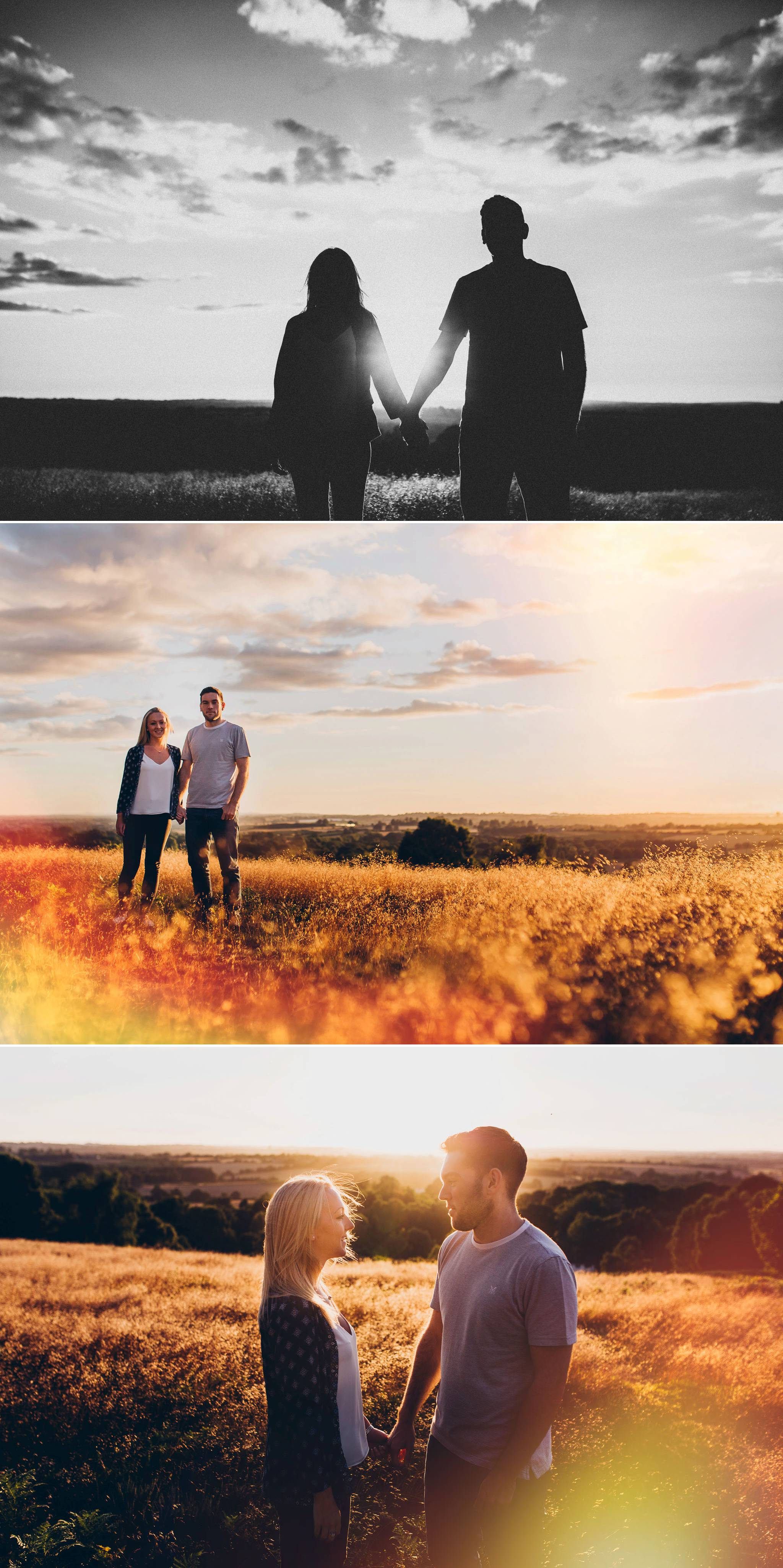 golden hour portraits on a hill