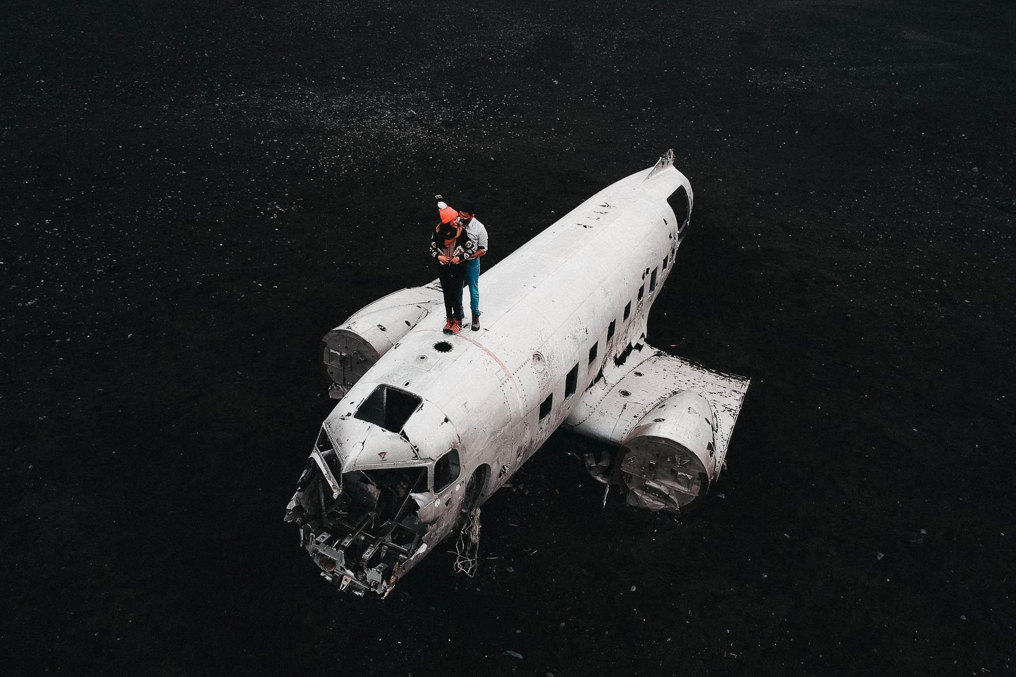 plane crash photoshoot in iceland