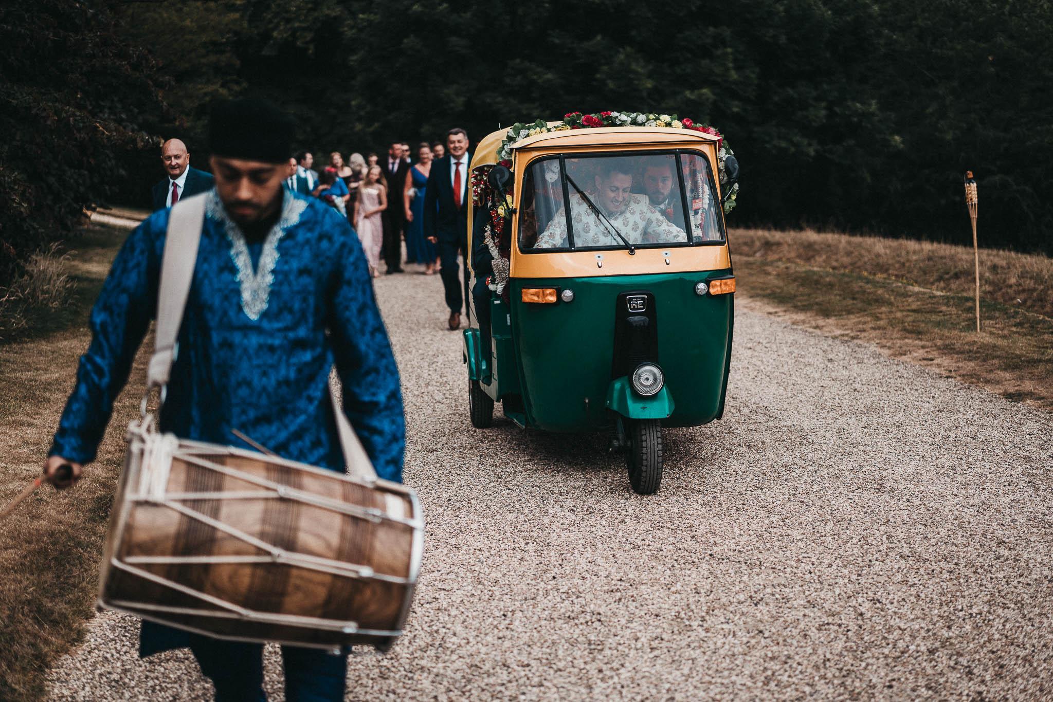 groomsmen family procession at sezincote