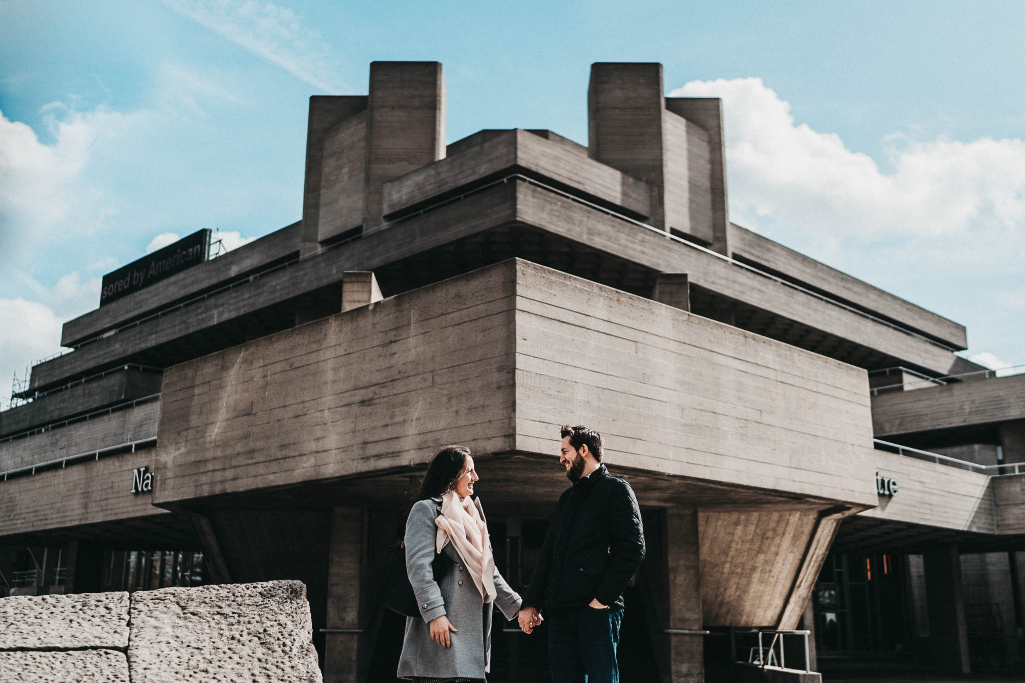 southbank picture of a couple holding hands