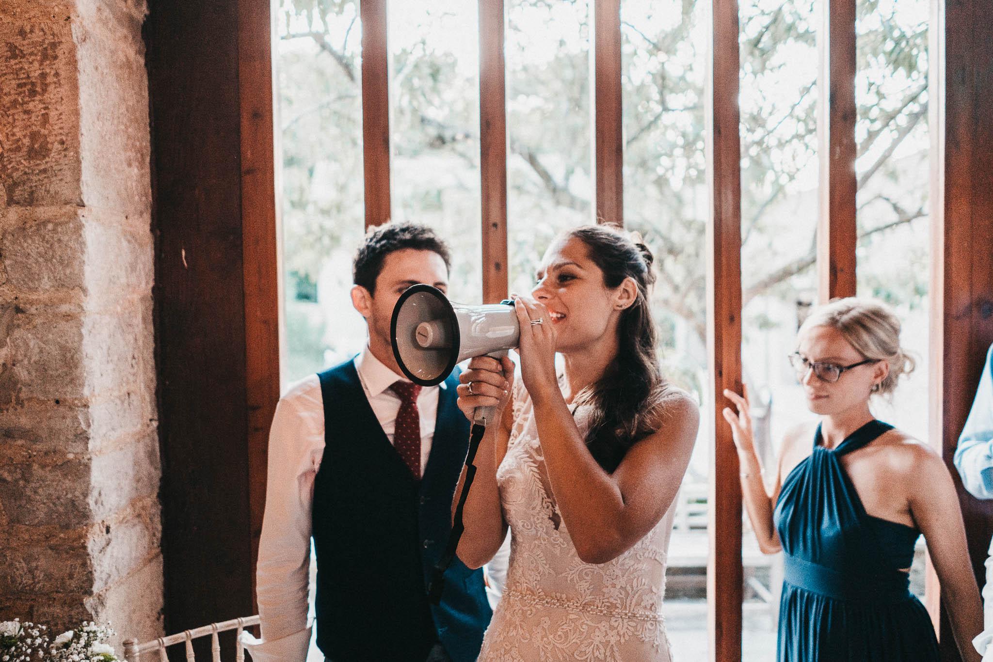 funny bride portrait