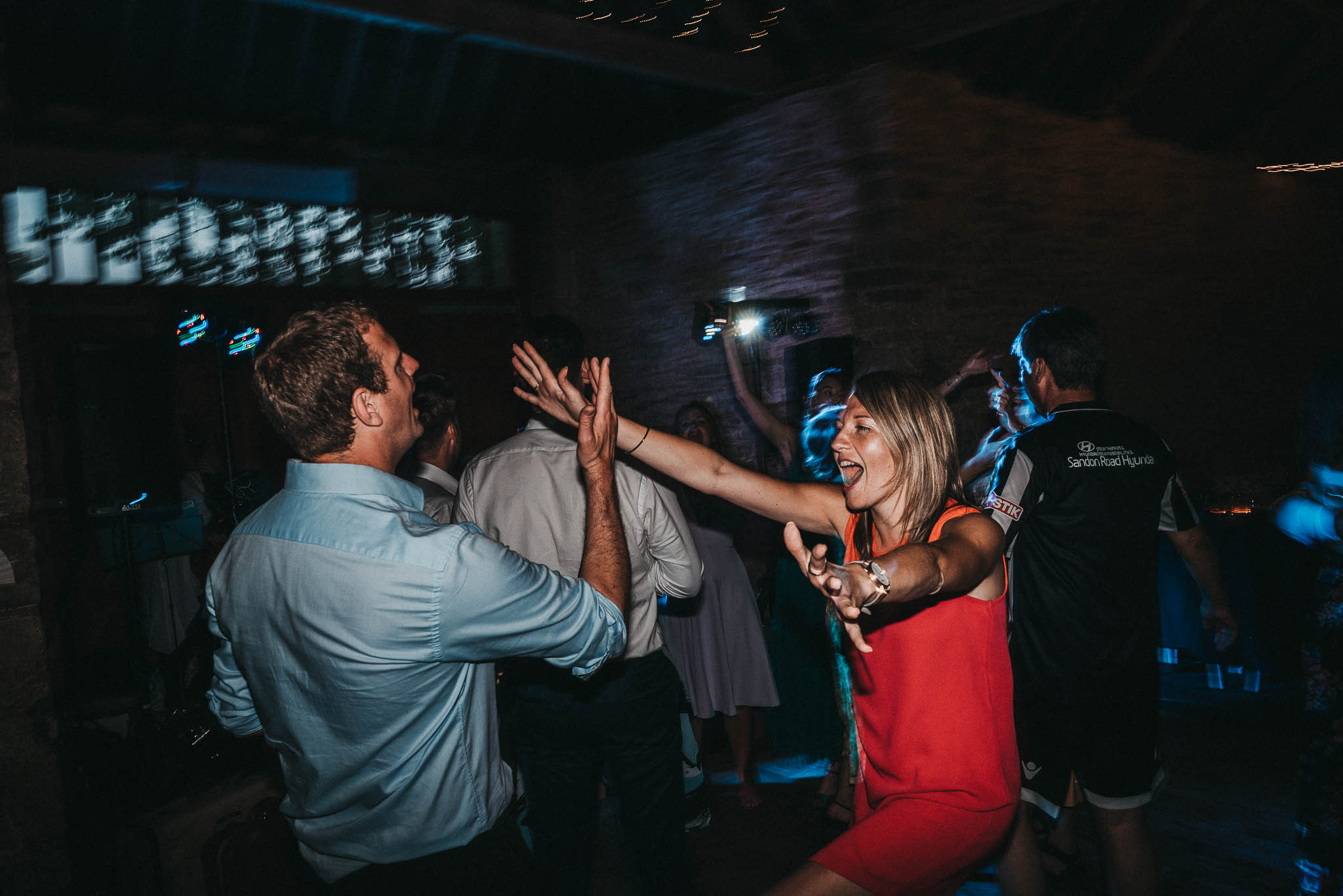exciting wedding dancing