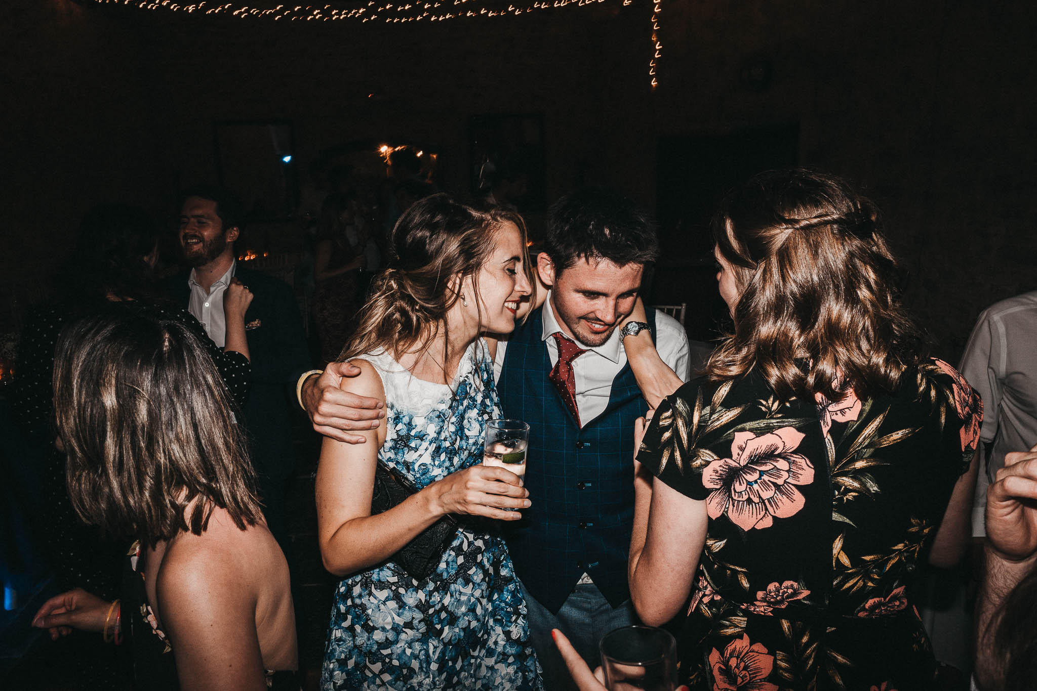 fun portraits on dance floor