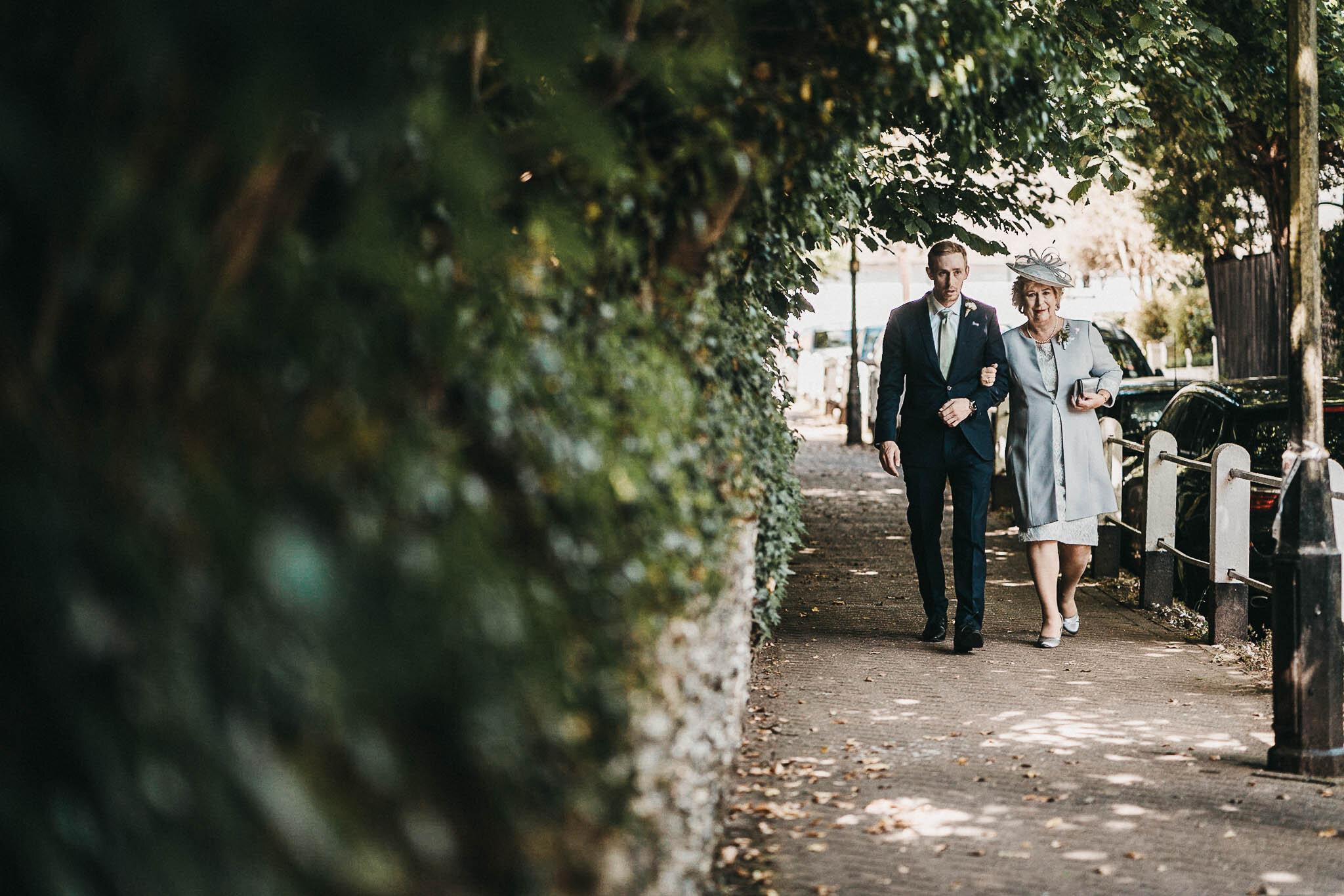 family-walking-to-church