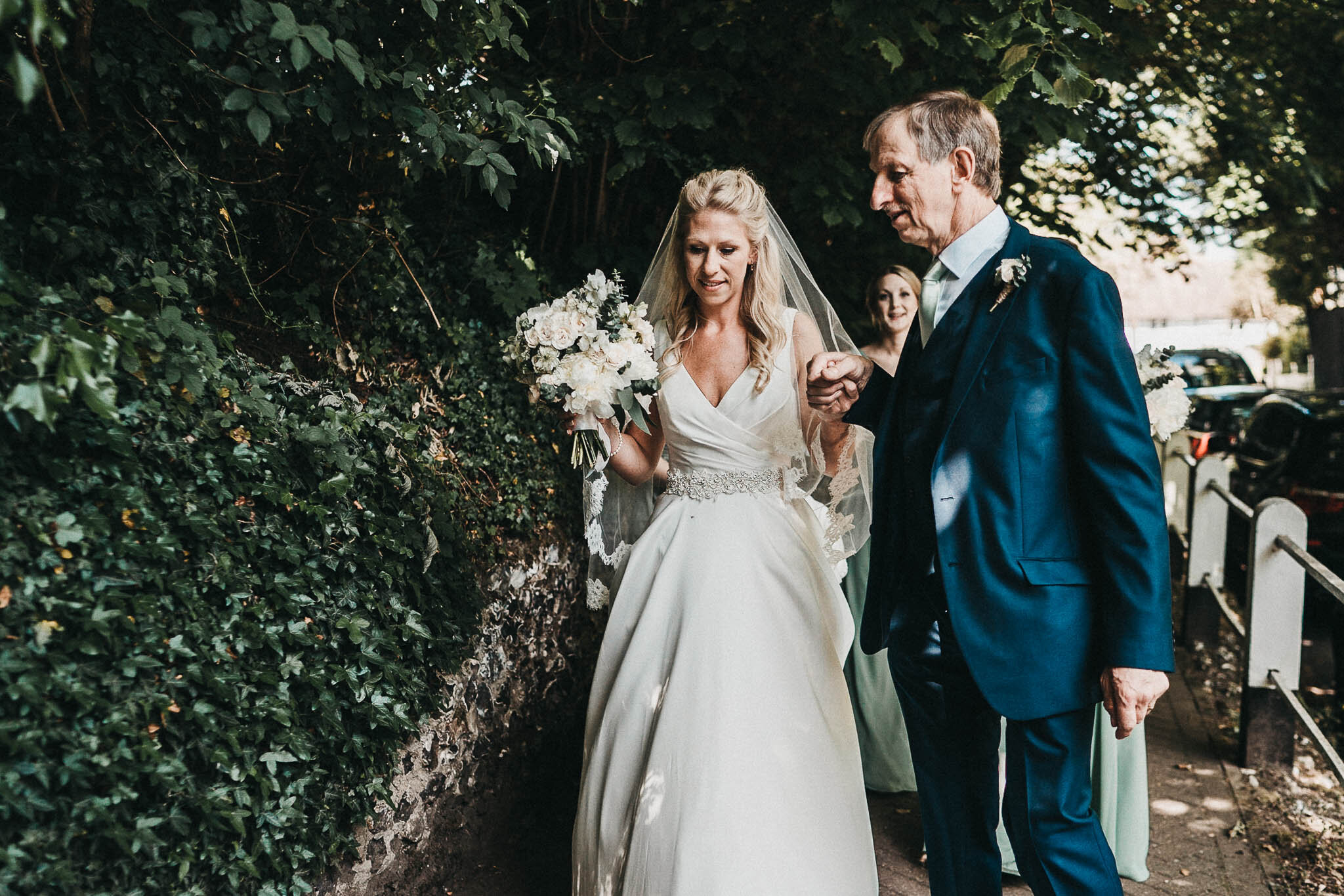 bride-and-dad-walking-to-church