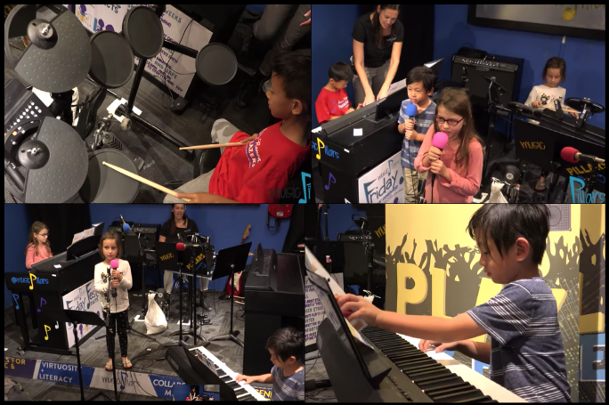 Allegro Pillars is piano-focused, but other instruments are used to help solidify foundational concepts of a Level 1 Music Student at Music Pillars