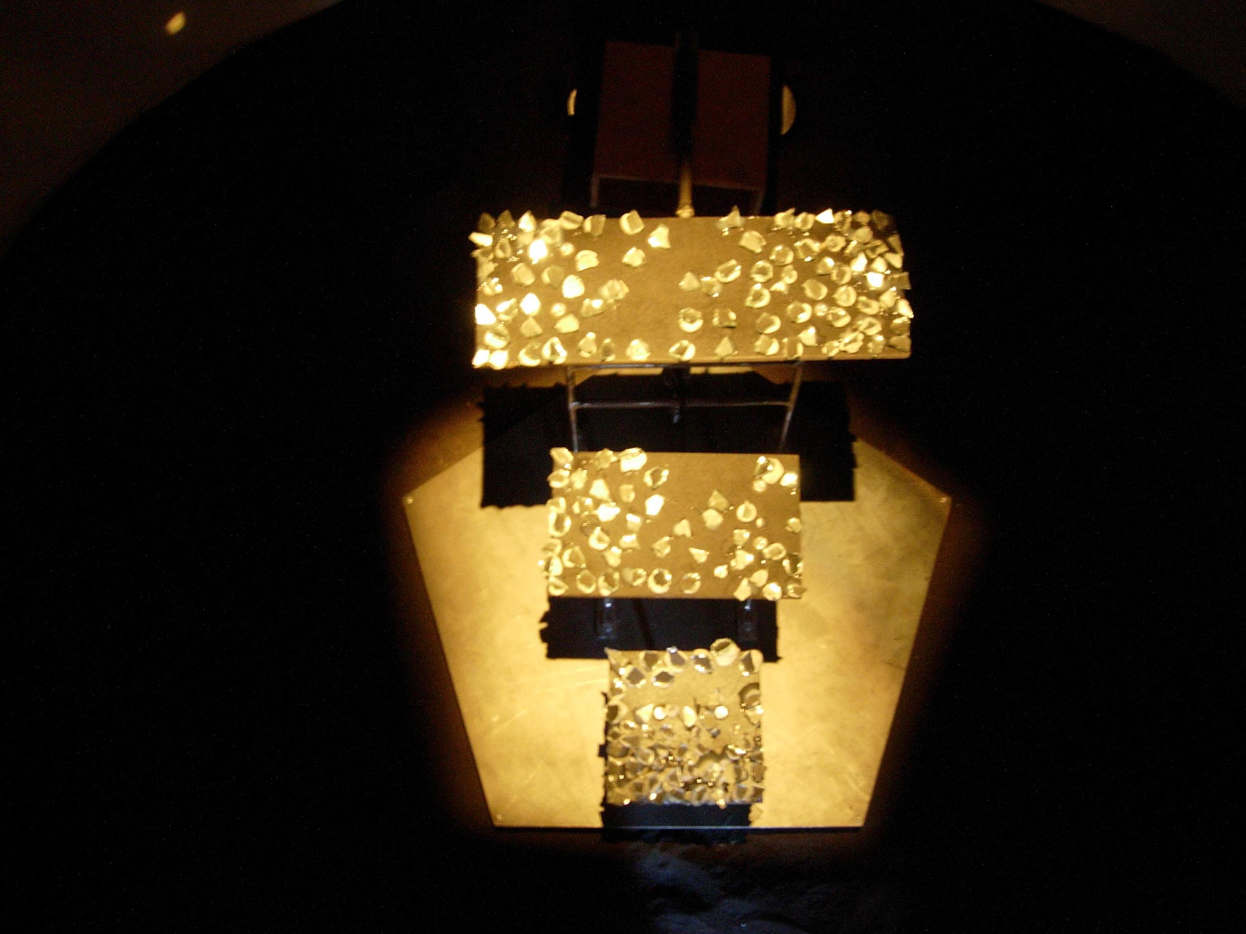 maya instilation central reflector mixed media, 2005.jpg