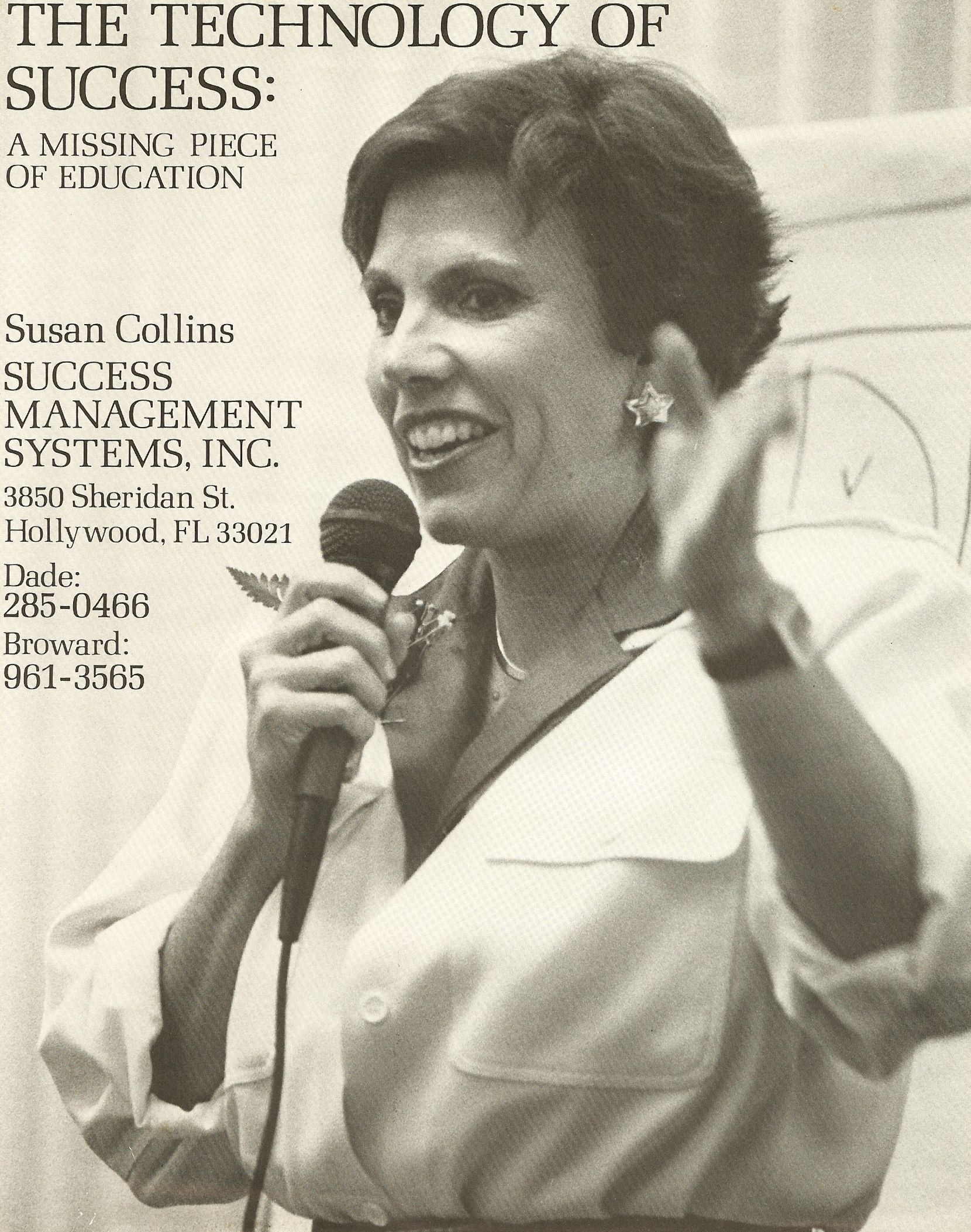 Susan Ford Collins, creator of The Technology of Success