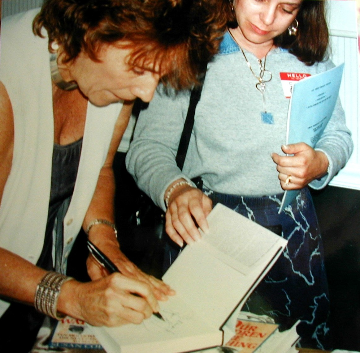 Book signing with pleasure