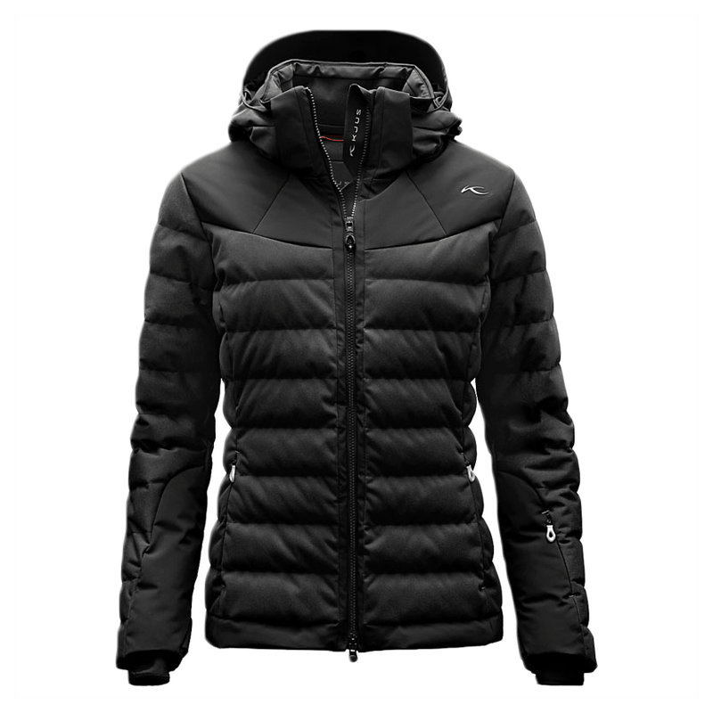 Kjus Snowray   Ski jackets have always walked a fine like between pomp (or pom poms) and circumstance and bare bones performance. The Swiss brand Kjus has always created exceptional quality and arresting outerwear without the unnecessary frills. This year's Snowray features luxurious duck down, two-way zippers, and is water-repellant. Available in 5 color ways, stand out in a crowd, but not too much.  $1,100, Kjus