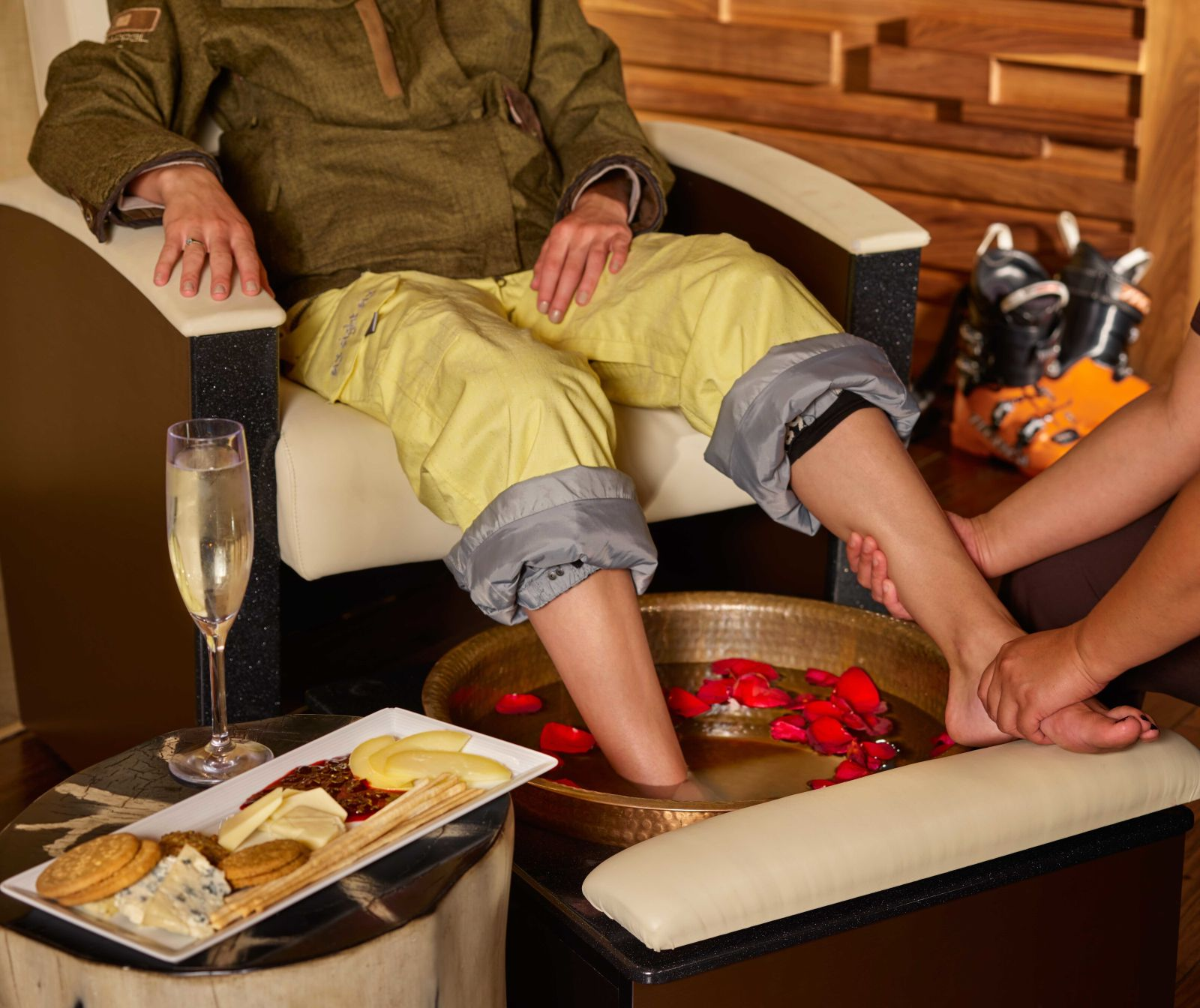 Après-ski at The Spa at Viceroy Snowmass is a true treat.