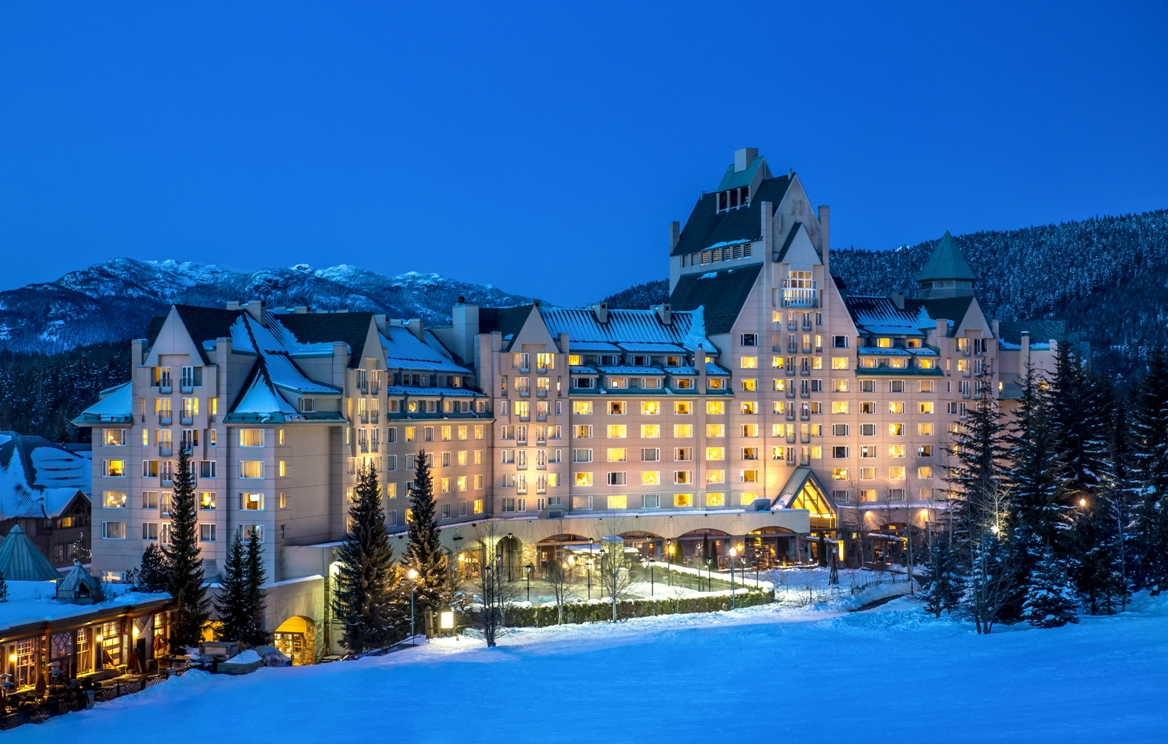 Next Stop: Whistler Blackcomb and the elegant Fairmont Chateau Whistler.