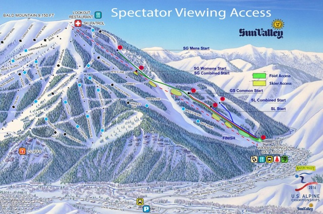 Sun Valley's Grayhawk area is the epicenter of U.S. Ski Racing this March.