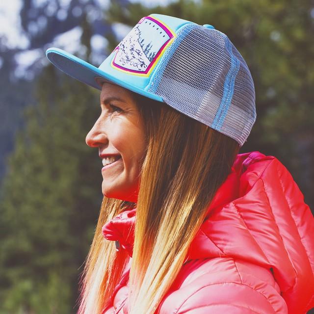 Olympic Skier Julia Mancuso rocks her bigtruck lids around the globe.