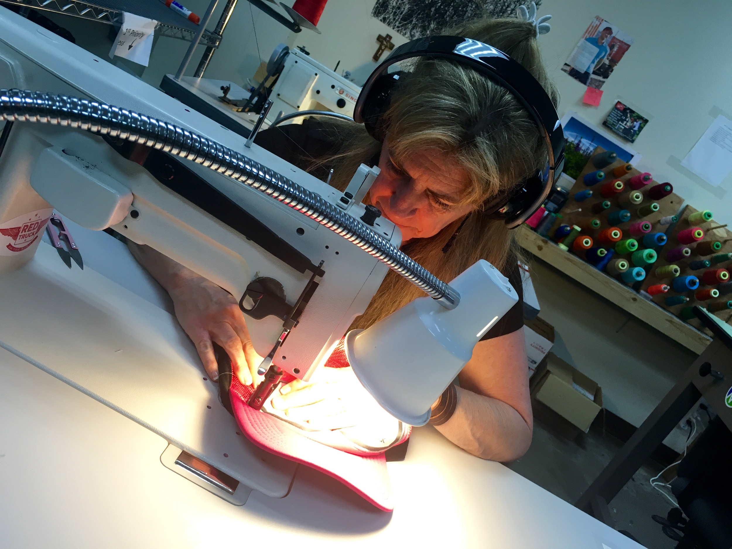 All hats are designed and sewn in Truckee, California, just outside Lake Tahoe.