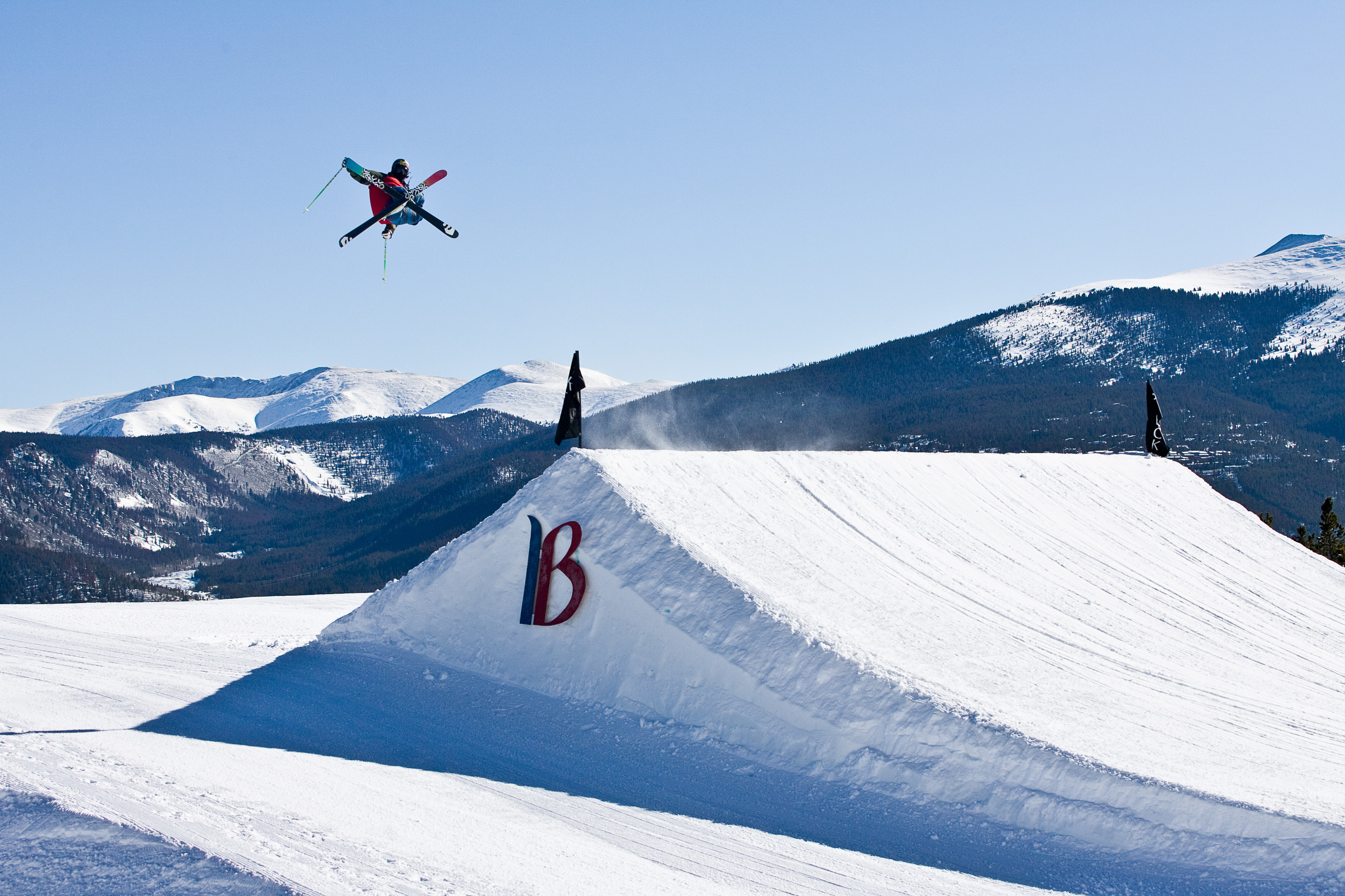 Breckenridge rocks four terrain parks and a 22-foot superpipe. (Aaron Dodds)