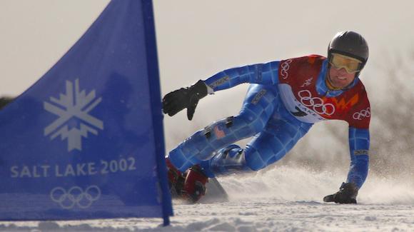 Snowboarder Chris Klug won bronze at the Salt Lake City 2002 Olympic Games.