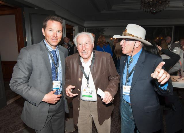 Left to Right: Hall of Famers Chris Davenport, Klaus Obermeyer and Billy Kidd at the U.S. Ski and Snowboard Hall of Fame induction at the St. Regis Aspen. (USSA)