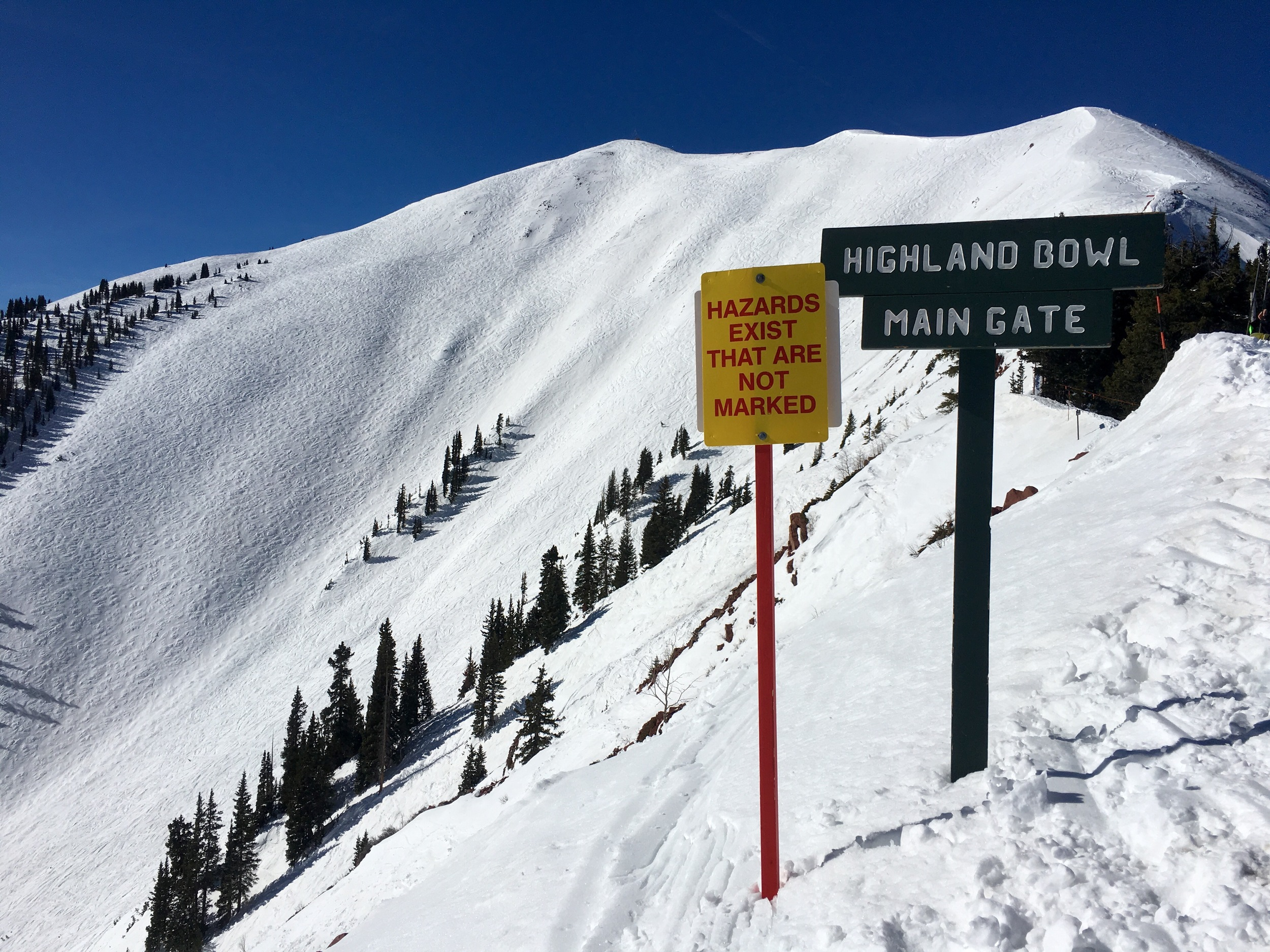 Aspen Highlands, including the legendary Highland Bowl, is opens Friday, April 29 for the season's final three-day weekend. (@BeingAlexP)