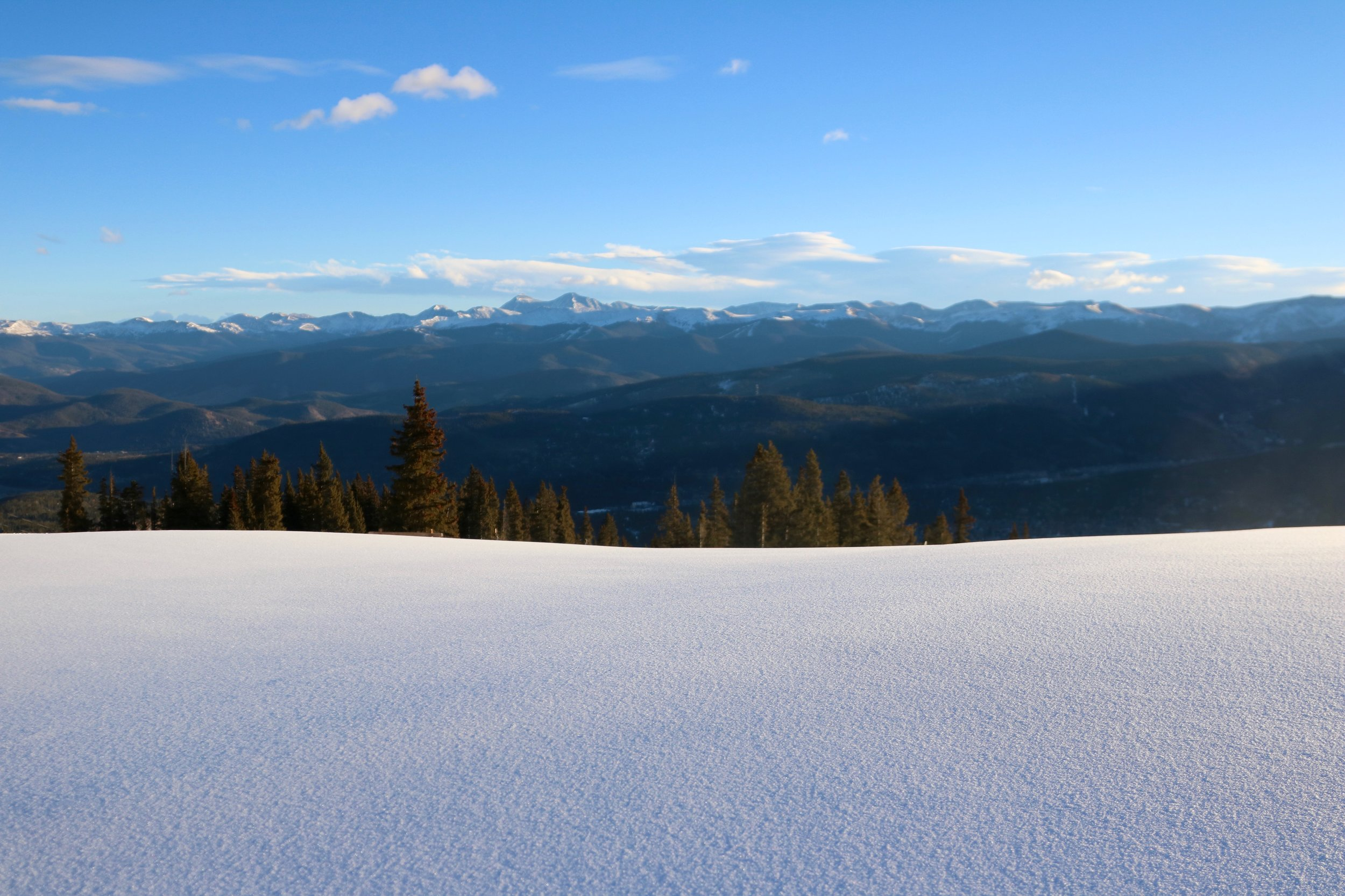 Spying on the Continental Divide from the top of Breck's Colorado SuperChair (Brent Clark, Breckenridge)