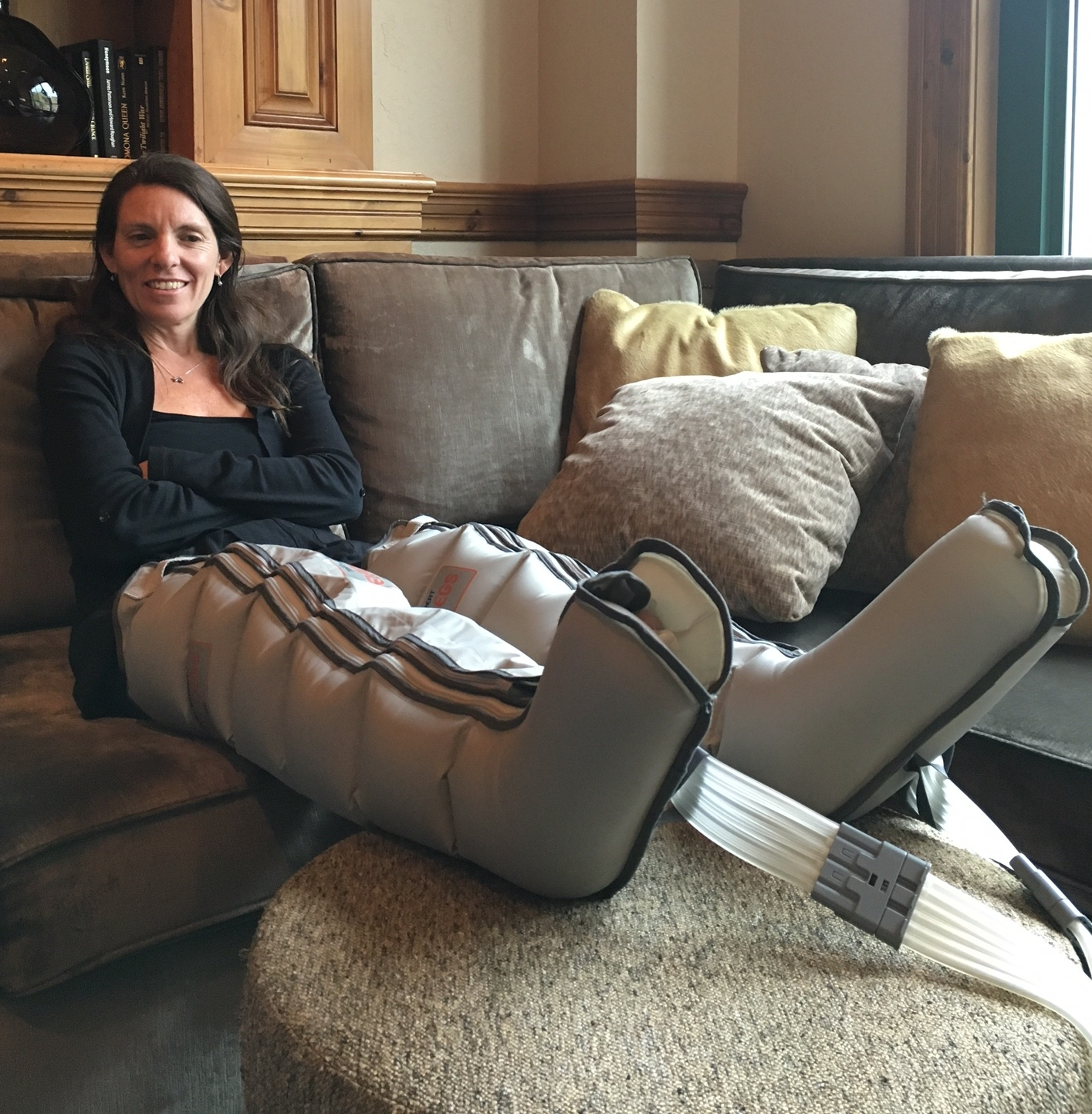 Heal up at The Park Hyatt Beaver Creek Skier Recovery Lounge in Elevated Legs.