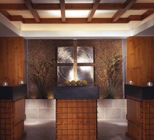 The relaxing interior of the spa at the Stowe Mountain Lodge.Courtesy Stowe Mountain Lodge