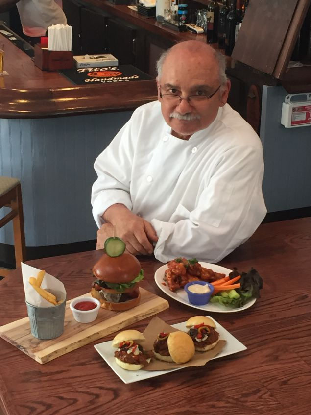 Chef Michael Ruggerio.  New Springs Tavern