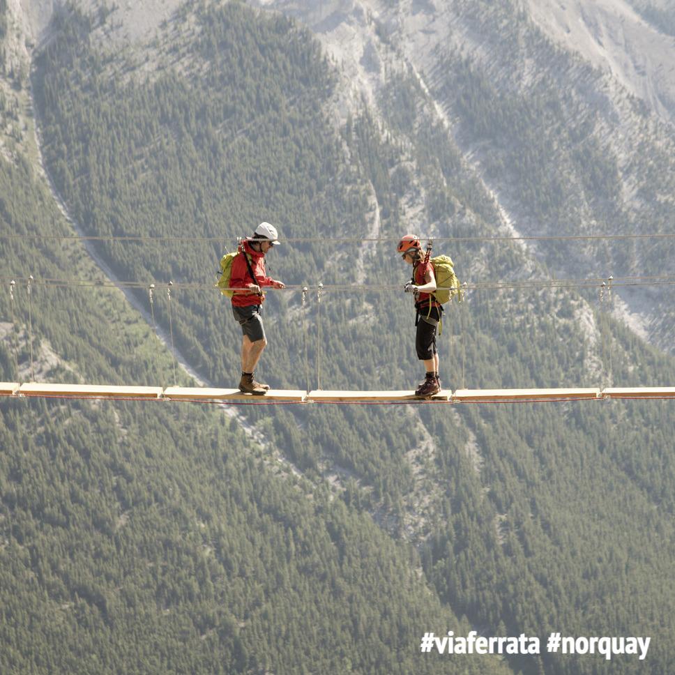 Mount Norquay's Via Ferrata Instagram