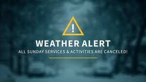 All services for Sunday, January 8th, have been canceled.