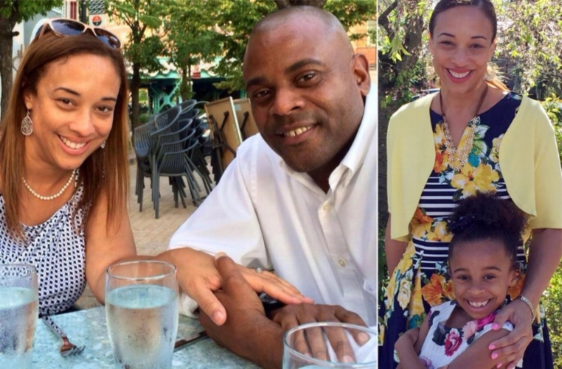 """Left: Michelle Hord-White and Neil White /Right: Michelle Hord-White and her daughter Gabrielle White (d. 2017)  """"The uneasy truce between a divorcing New Rochelle couple ended with the ghastly suffocation of their daughter — at the cruel hands of her own father, cops said. Neil White, 47, was charged with second-degree murder after a distraught baby-sitter discovered his 7-year-old daughter Gabrielle's lifeless body in her bed Tuesday afternoon, police said."""" NY Daily News -  Read more..."""