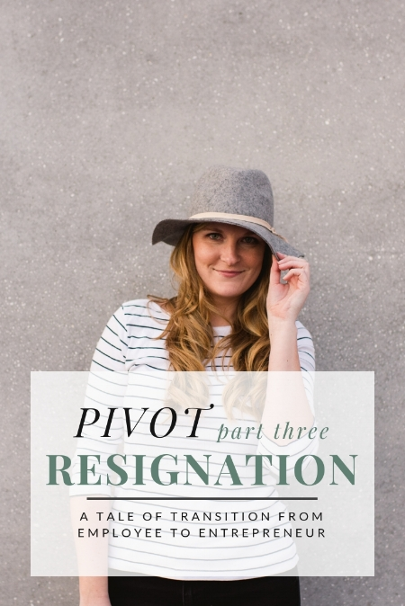 PIVOT: Resignation by Christine Barnes