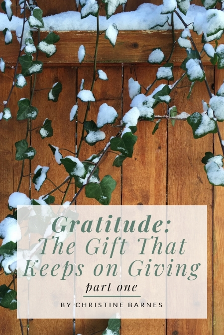 Gratitude: The Gift That Keeps on Giving by Christine Barnes