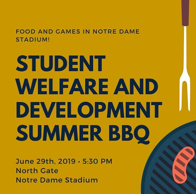 ☘️🚨All Student-Athletes in Summer School!🚨☘️ Please check your email and RSVP to our summer BBQ! We will be serving Nelson's BBQ and will have games set up inside of Notre Dame Stadium! ☘️